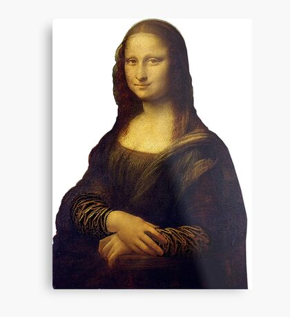 Mona Lisa Grunge Metal Print