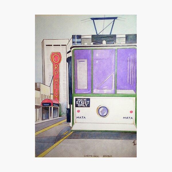 Memphis Trolley Photographic Print