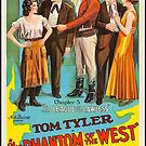 Vintage Hollywood Nostalgia Phantom of the West Film Movie Advertisement Poster by jnniepce