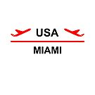 Miami USA Airport Plane Light-Color by TinyStarAmerica