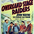 Vintage Hollywood Nostalgia The Three Mesquiteers Overland Stage Raiders Film Movie Advertisement Poster by jnniepce