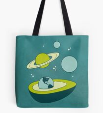 Avocado in Space Tote Bag