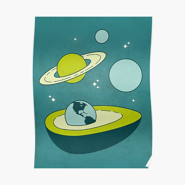 Avocado in Space Poster
