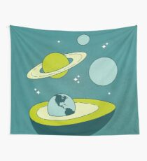 Avocado in Space Wall Tapestry