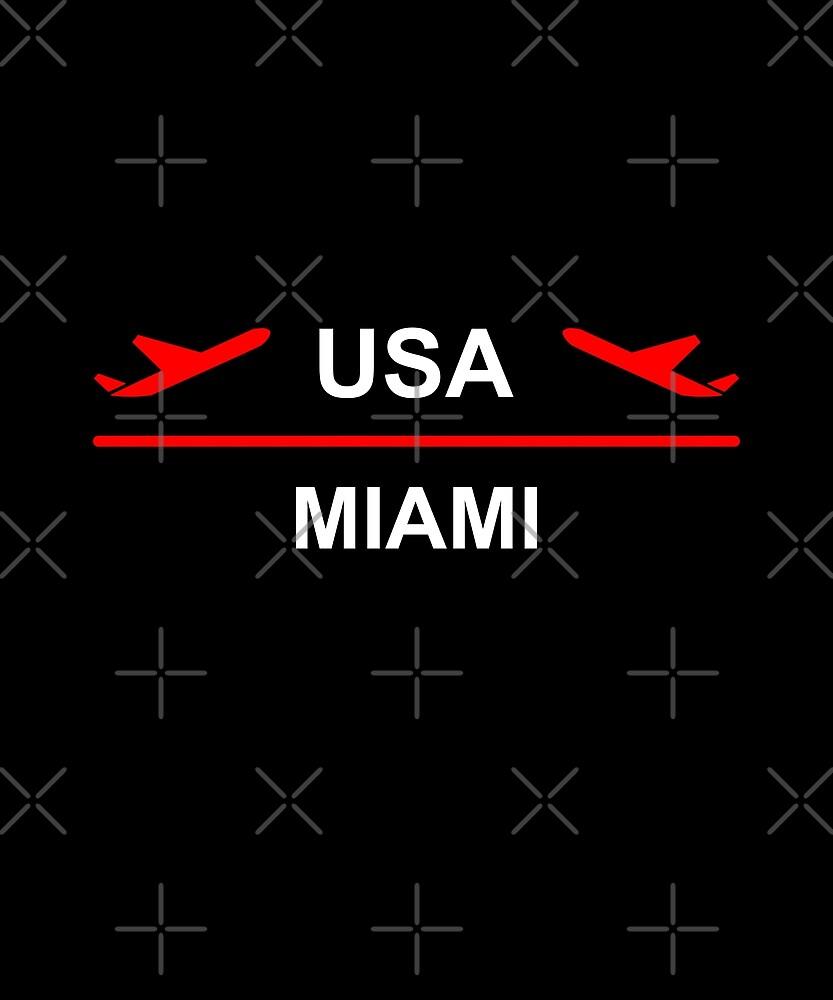 USA Airport Plane Dark Color by TinyStarAmerica