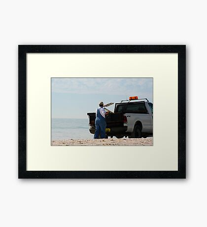 Fish Clean Up Framed Print