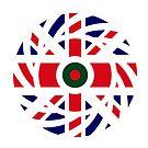 British Bangladeshi Multinational Patriot Flag Series by Carbon-Fibre Media