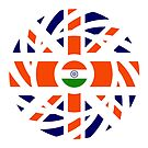 British Indian Multinational Patriot Flag Series by Carbon-Fibre Media