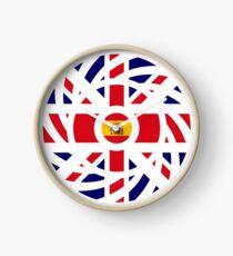 British Spanish Multinational Patriot Flag Series Clock