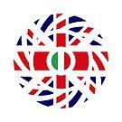 British Italian Multinational Patriot Flag Series by Carbon-Fibre Media