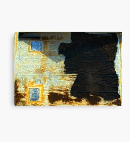 Abstract garage roof Canvas Print