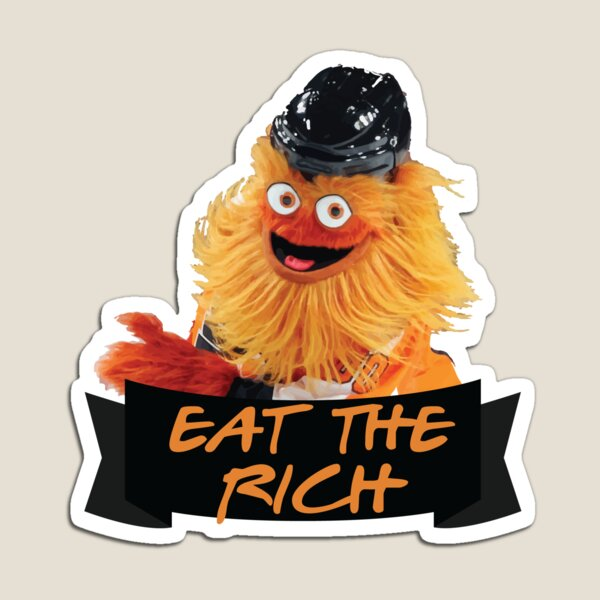 Eat The Rich Gritty Sticker Magnet