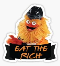 Eat The Rich Gritty Sticker Sticker