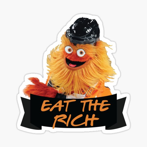 Eat The Rich Gritty Sticker Sticker