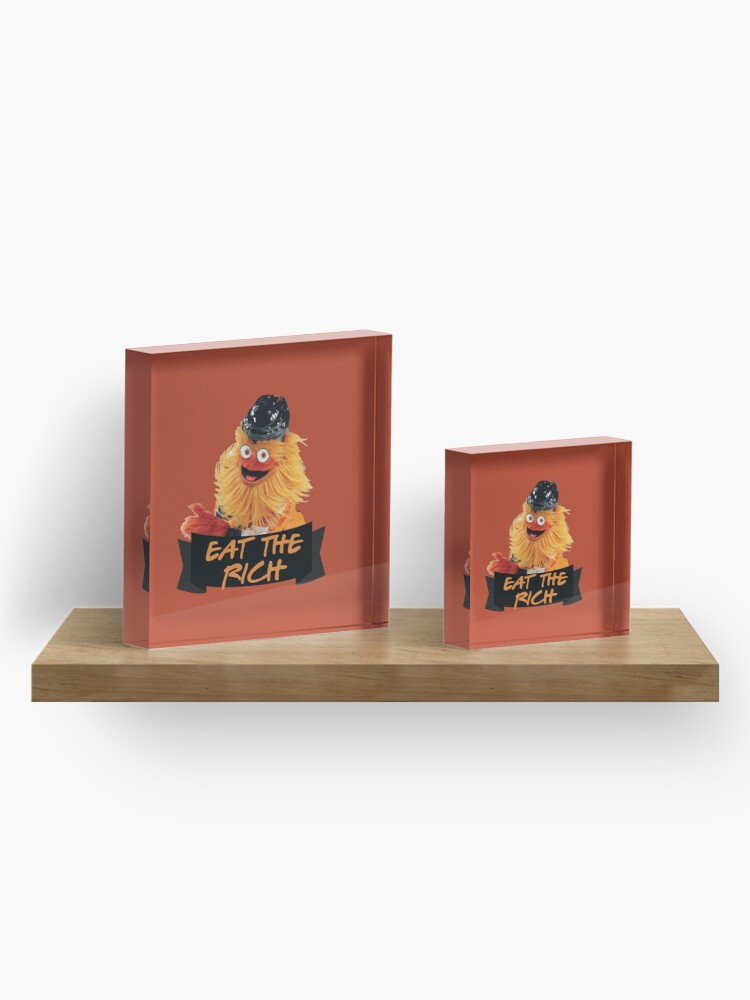 Alternate view of Eat The Rich Gritty Sticker Acrylic Block
