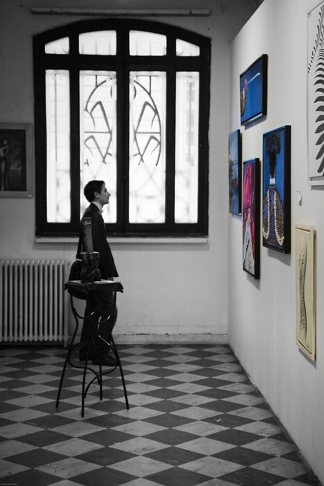 David, Grasping Some Art - Arles, France - 2010 by Nicolas Perriault