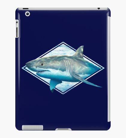 Great white shark distressed design iPad Case/Skin