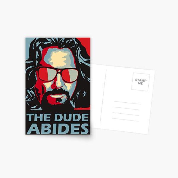The Dude Abides Man Postcard