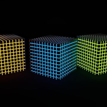 Glowing shiny cubes by Band1t