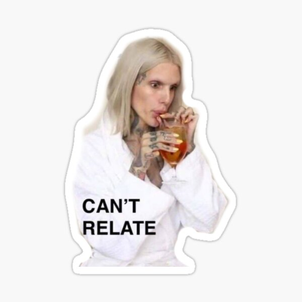 Jeffree Star - Can't Relate  Sticker