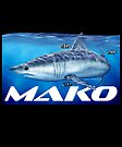 Mako shark by David Pearce
