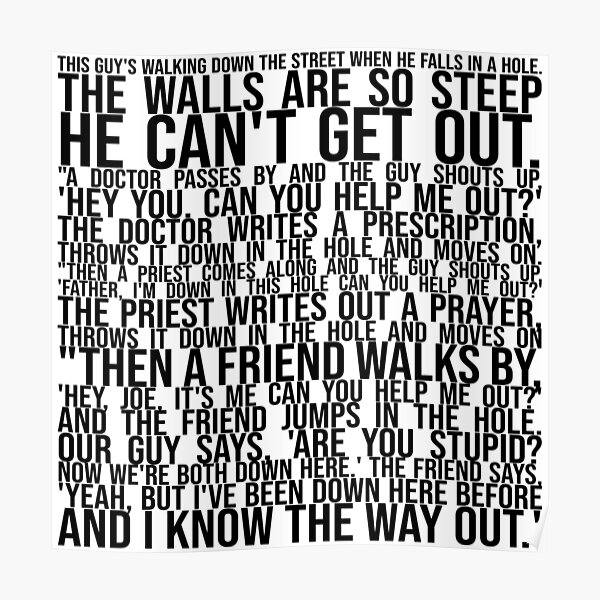 I know the way out Poster