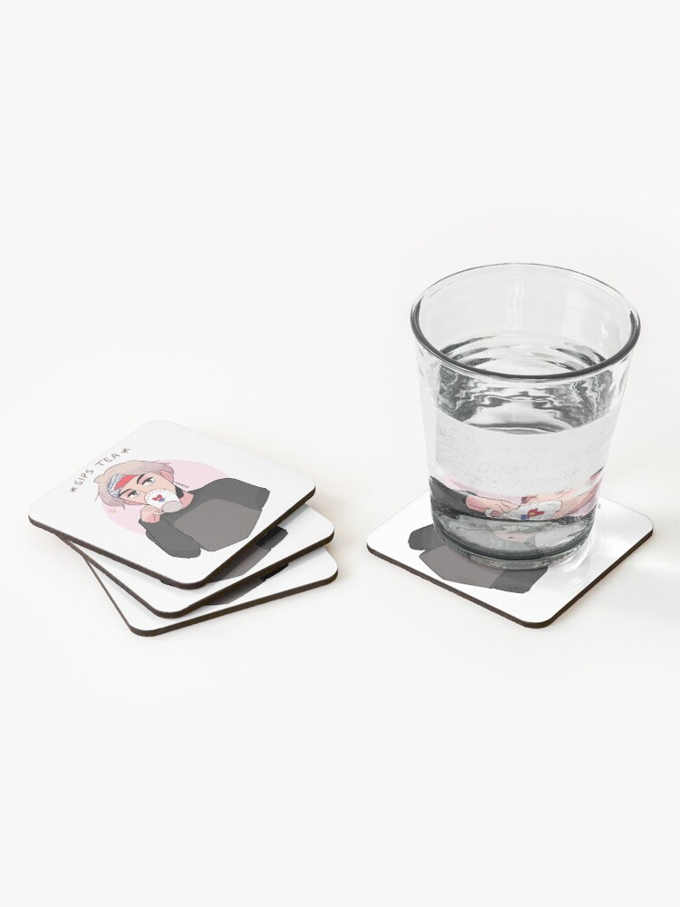 Alternate view of MIC DROP: V SIPPIN TEA Coasters (Set of 4)