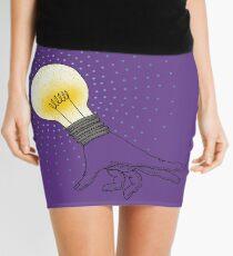 Runaway Idea lightbulb hand Mini Skirt