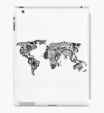 Map of the World Zentangle iPad Case/Skin