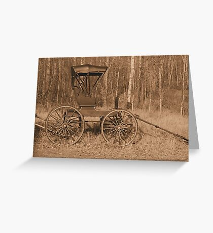 """""""A Classy Ride"""" - Classic Passenger Buggy Greeting Card"""