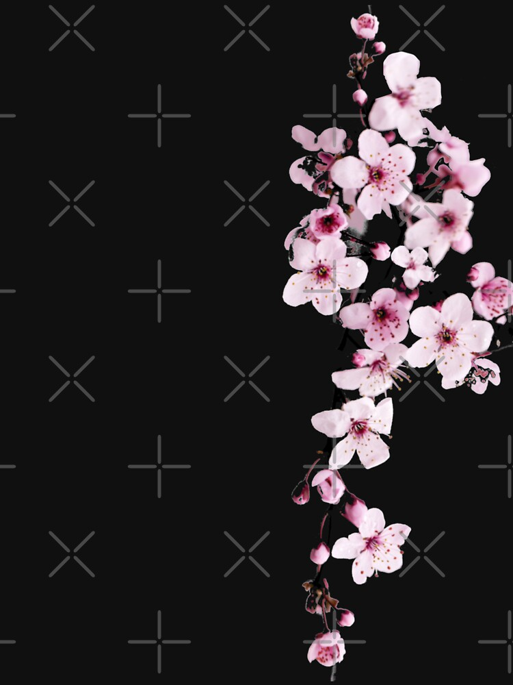 One-side Cherry Blossom Branch by nicked2