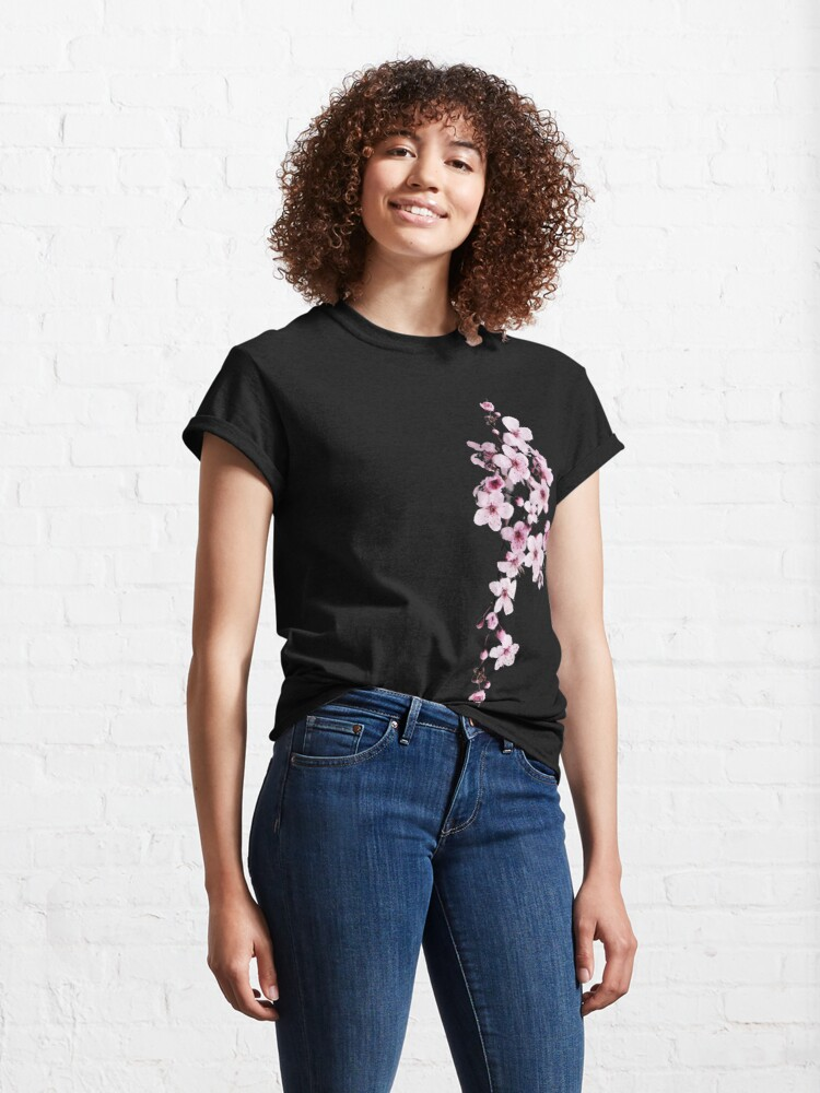 Alternate view of One-side Cherry Blossom Branch Classic T-Shirt