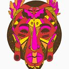 African Mask 1 - Red Edition by kenallouis