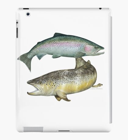 Brown Trout & Rainbow Trout iPad Case/Skin