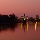 Hammersmith Bridge at sunset by Themis