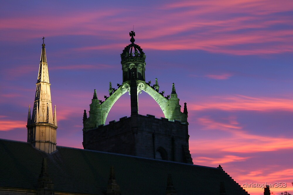 Sunset above King's College, Old Aberdeen by christopher363