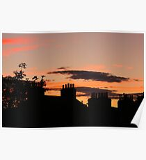 Britain at sunset Poster