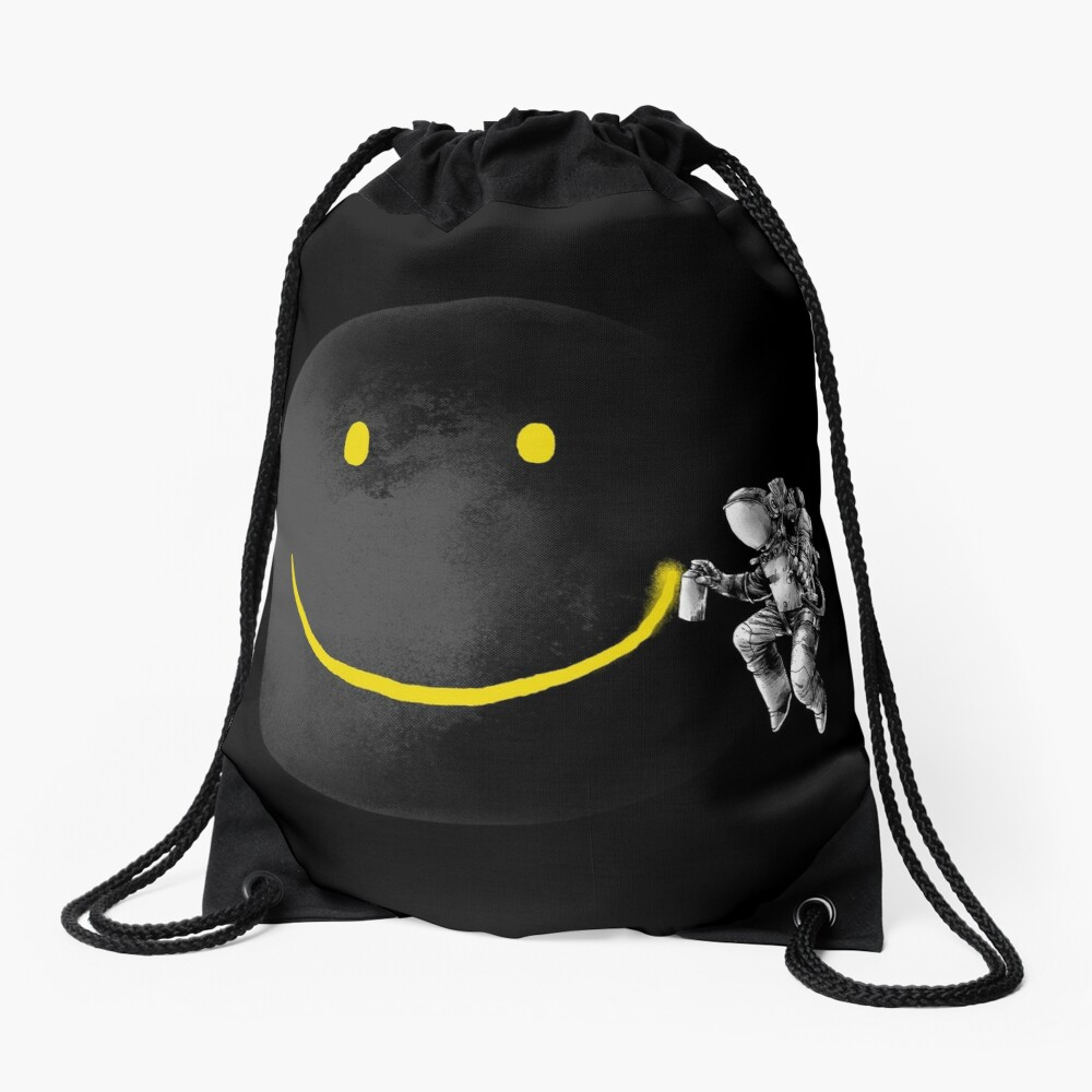 Make a Smile Drawstring Bag