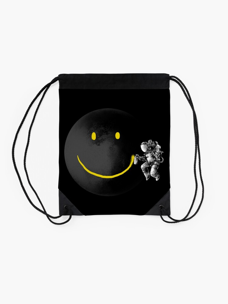 Alternate view of Make a Smile Drawstring Bag
