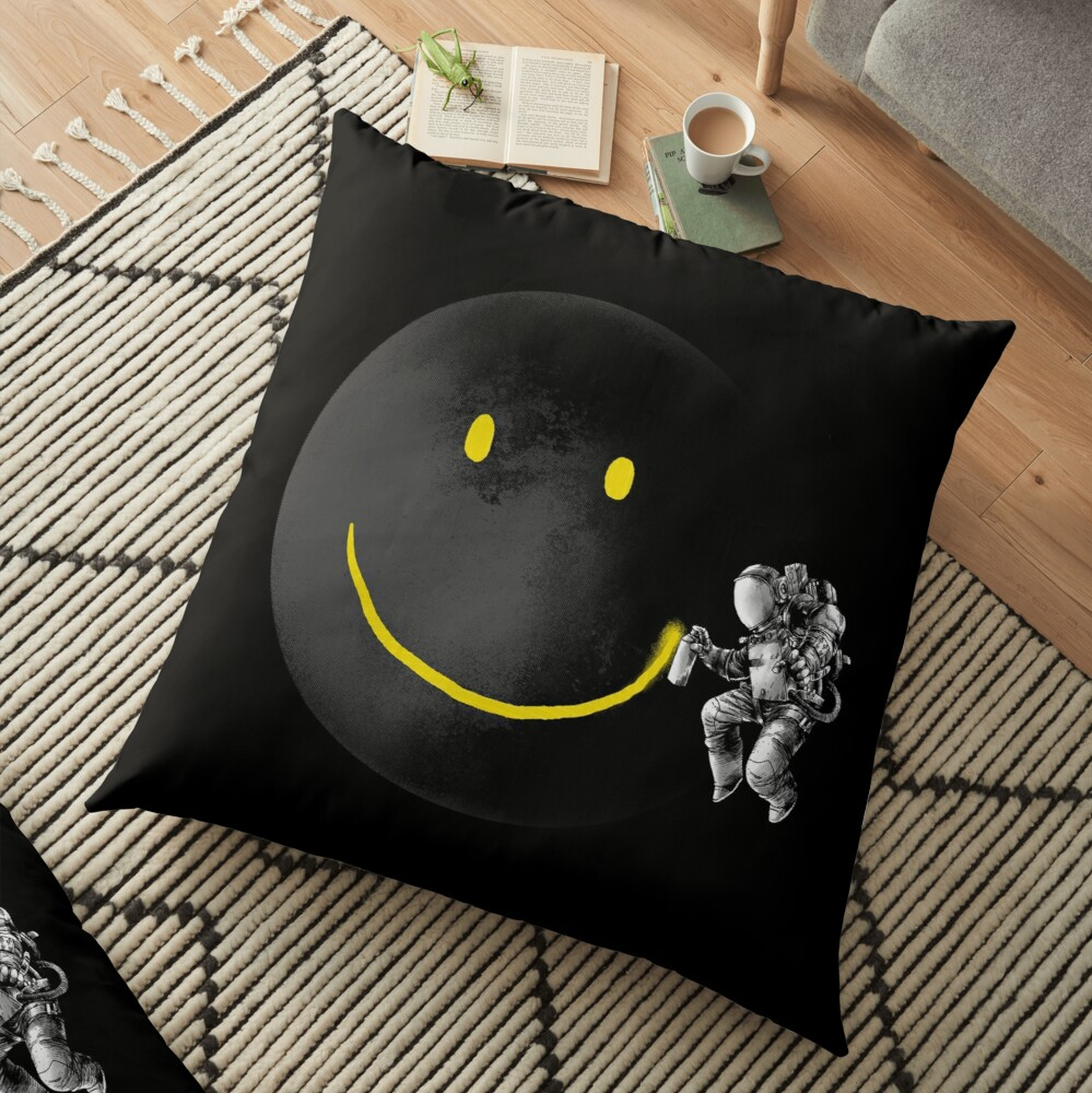 Make a Smile Floor Pillow