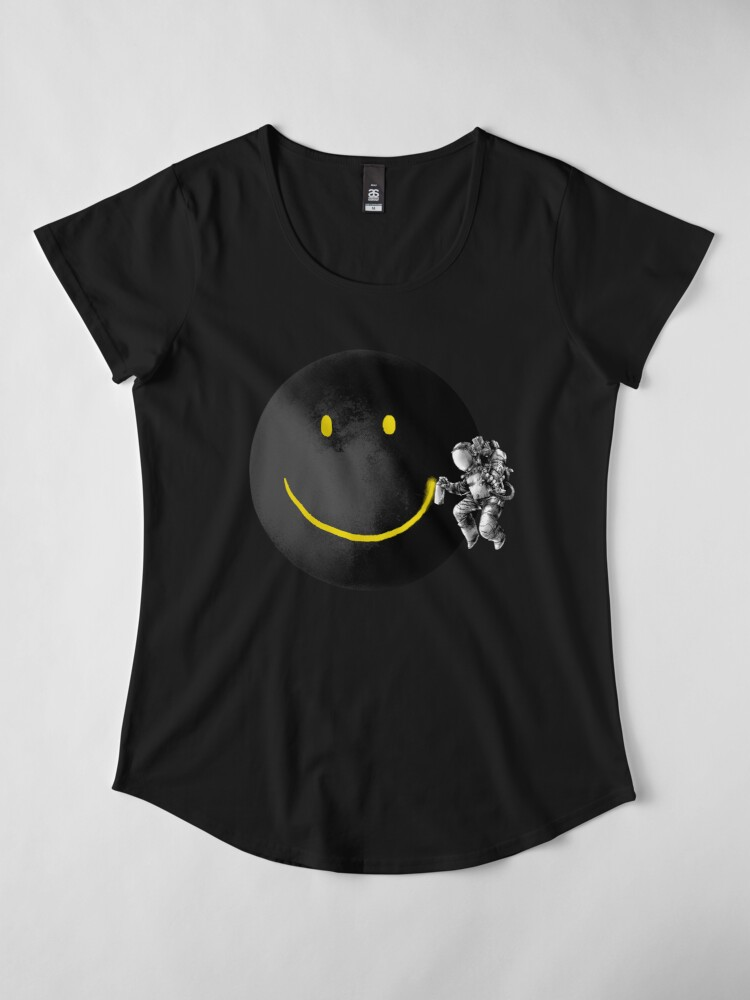 Alternate view of Make a Smile Premium Scoop T-Shirt