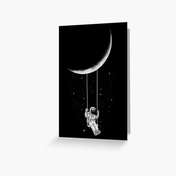 Moon Swing Greeting Card