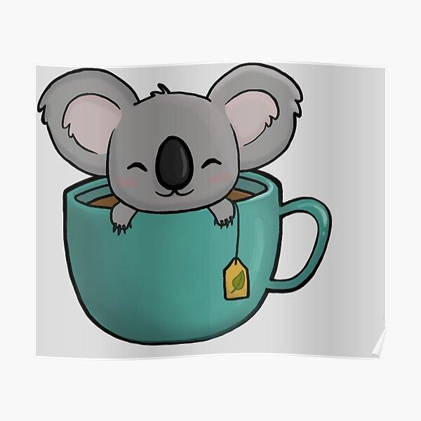 Té de koala Póster