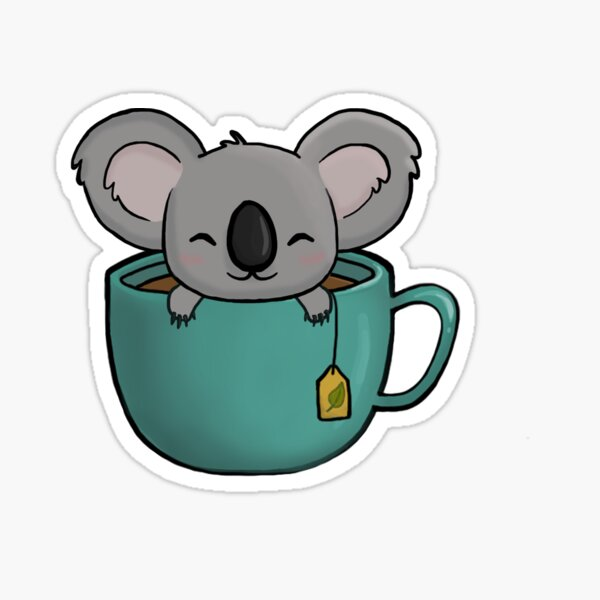 Koala-tea Sticker