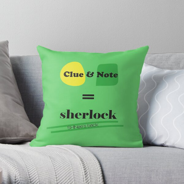 Clue & Note version 2 Throw Pillow