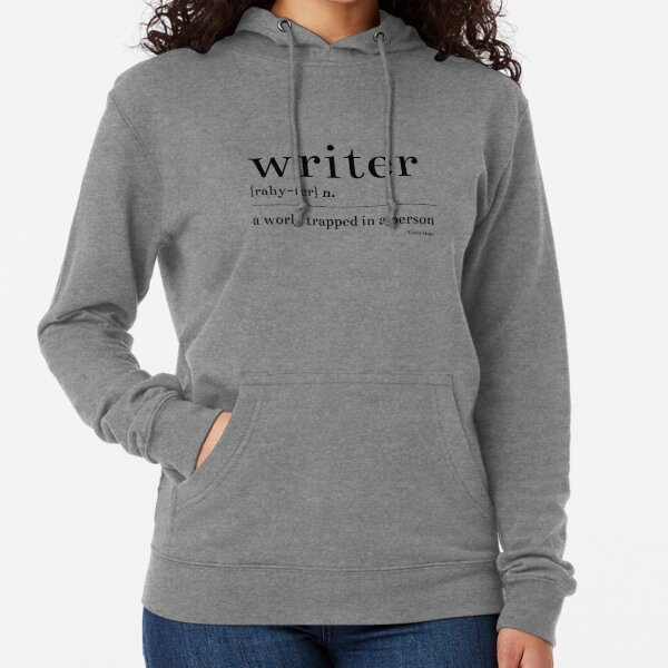 Writer: A World Trapped in a Person Lightweight Hoodie