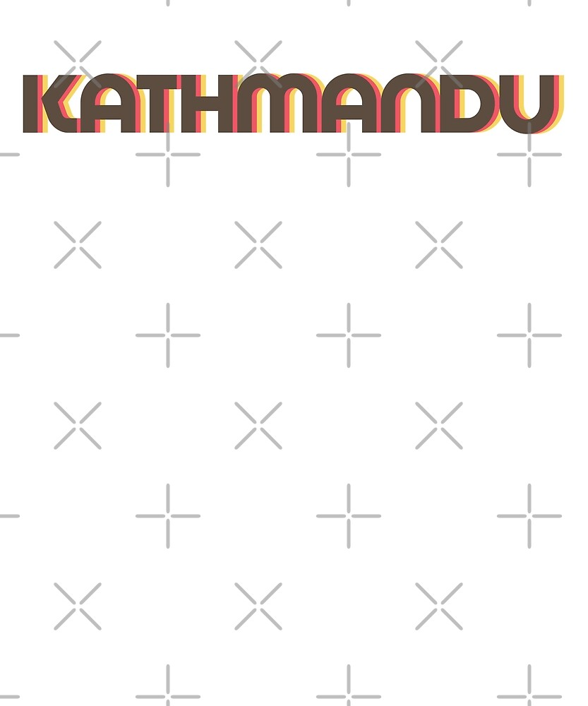 Retro Kathmandu T-Shirt by designkitsch