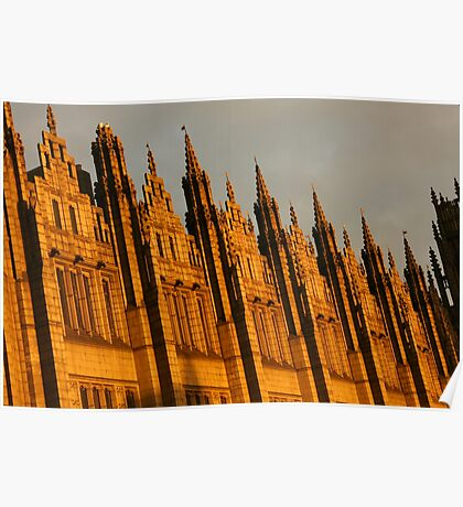 Spires in the sun Poster