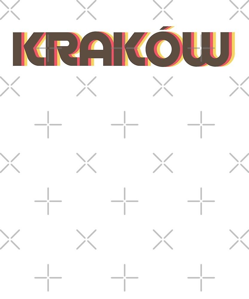 Retro Krakow T-Shirt by designkitsch