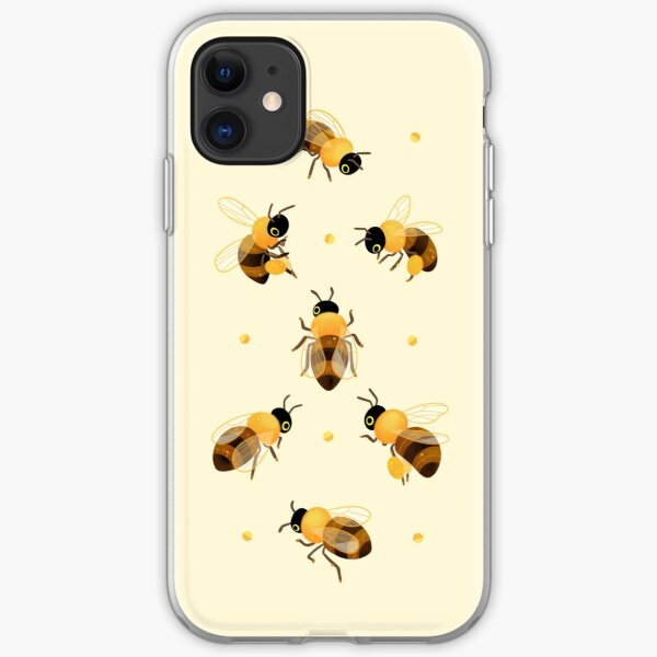 Honey bees iPhone Soft Case